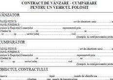 contract de vanzare auto